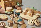 brinquedo de madeira de cozinha