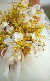 buquês de noiva de flores amarelas