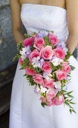 buquês de noiva de rosas