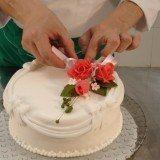 decoracao de bolos com rosa