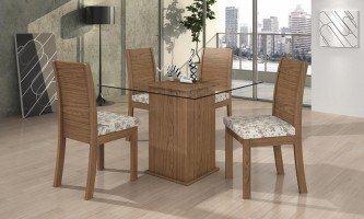 mesa para sala de jantar com 4 cadeiras