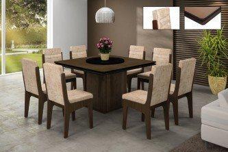 mesa para sala de jantar com 8 cadeiras