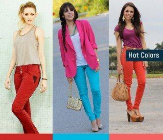dicas de calça jeans feminina colorida