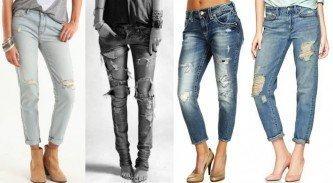 tipos de calça jeans feminina rasgadinha