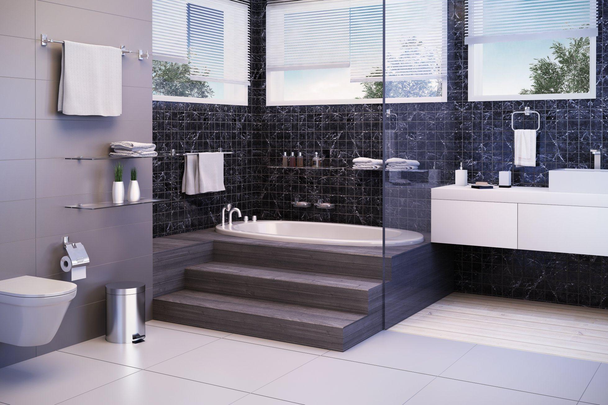 Decoração de Banheiro – Banheiro com banheira Vitoriana York Doka #486483 1958x1305 Banheiro Com Banheira De Canto