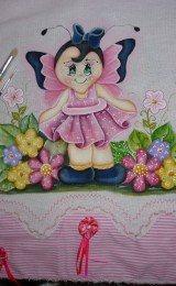 pintura em pano de prato a mao