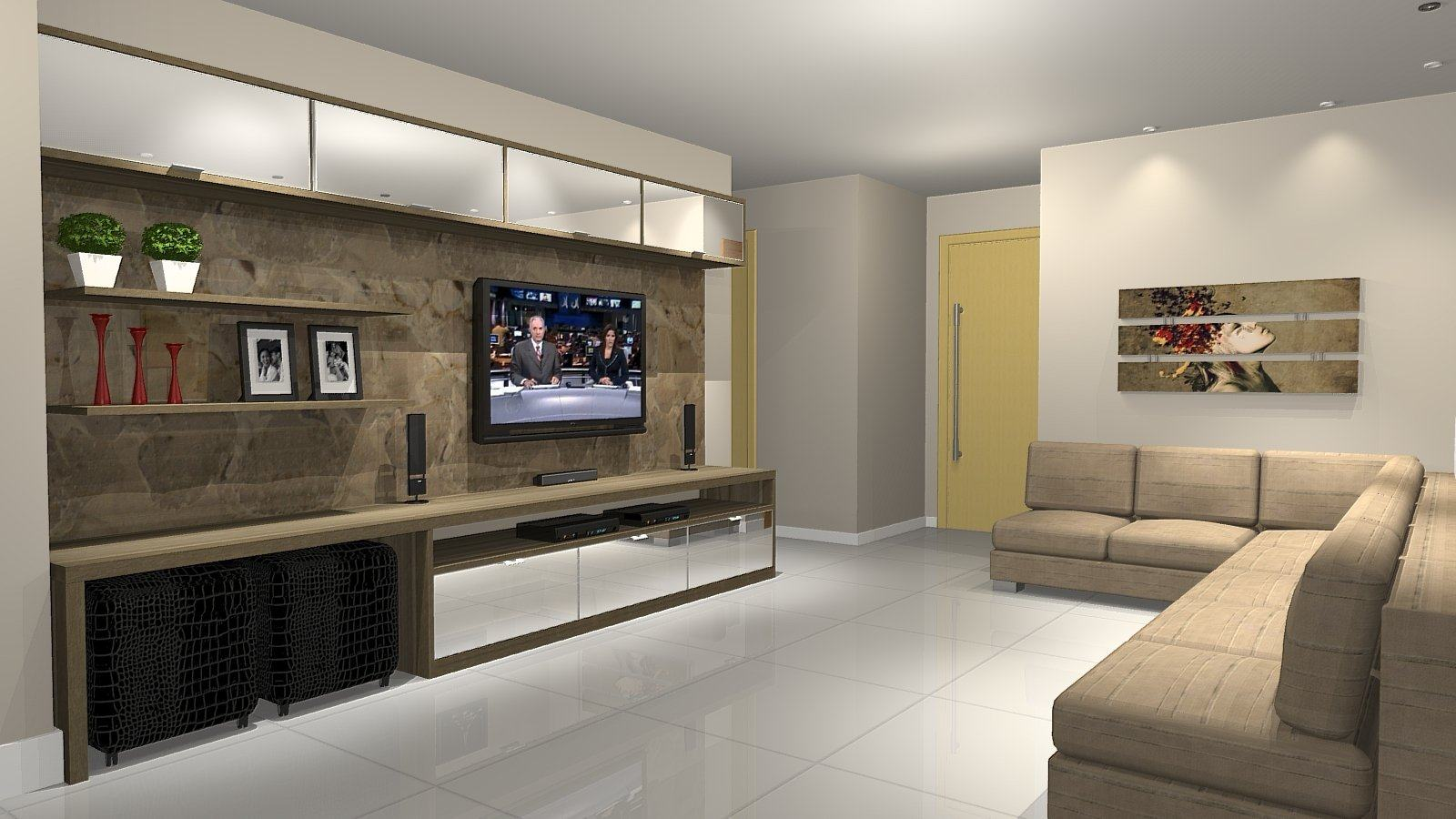 Home para sala de tv modelos planejados jet dicas for Sala grande