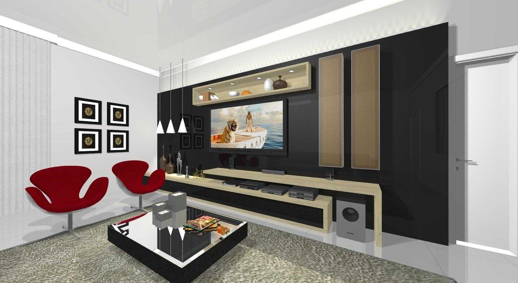 home para sala de tv modelos planejados jet dicas. Black Bedroom Furniture Sets. Home Design Ideas