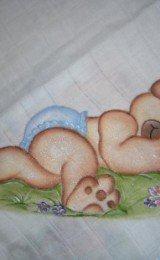 pintura em fraldas de meninos