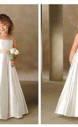 vestidos de daminhas de cetim