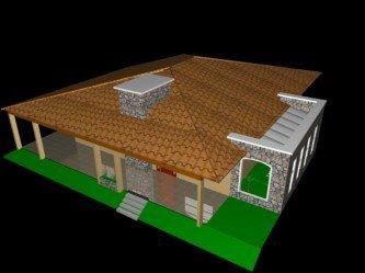 telhados de casas 4 aguas