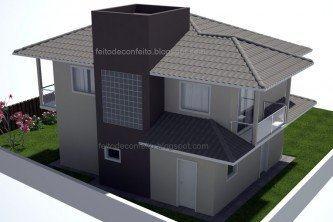 telhados de casas 4 aguas modernos