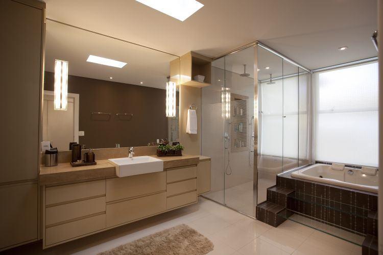Veja dicas de decoração e móveis para banheiros modernos  Jet Dicas -> Banheiros Bem Modernos