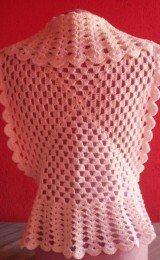 modelos de coletes feitos de crochê