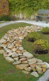 decoraçao de jardins com pedras
