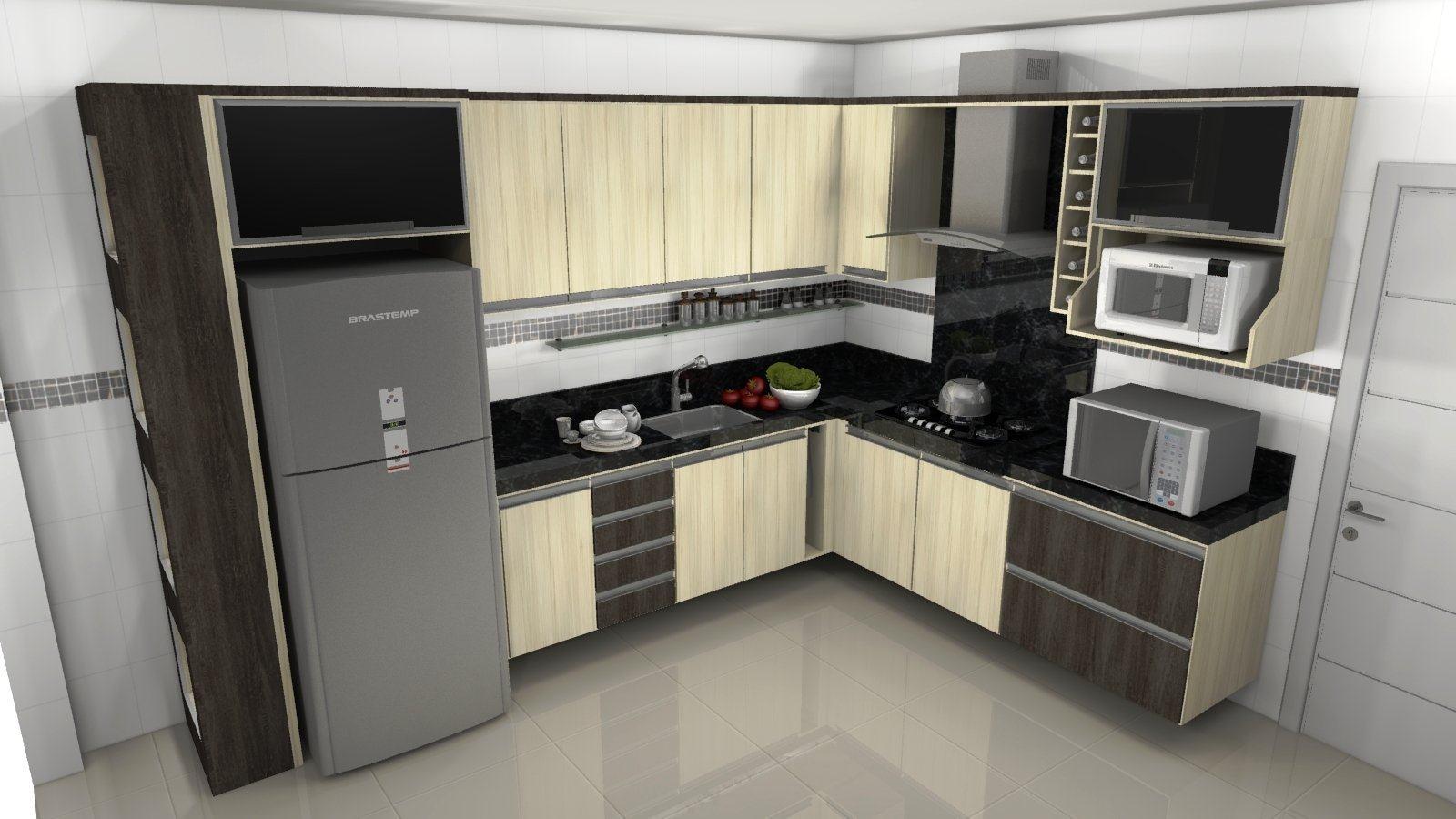 Pics Photos Montar Sua Cozinha Planejada Pequena Cozinhas Moduladas  #7D714E 1600 900