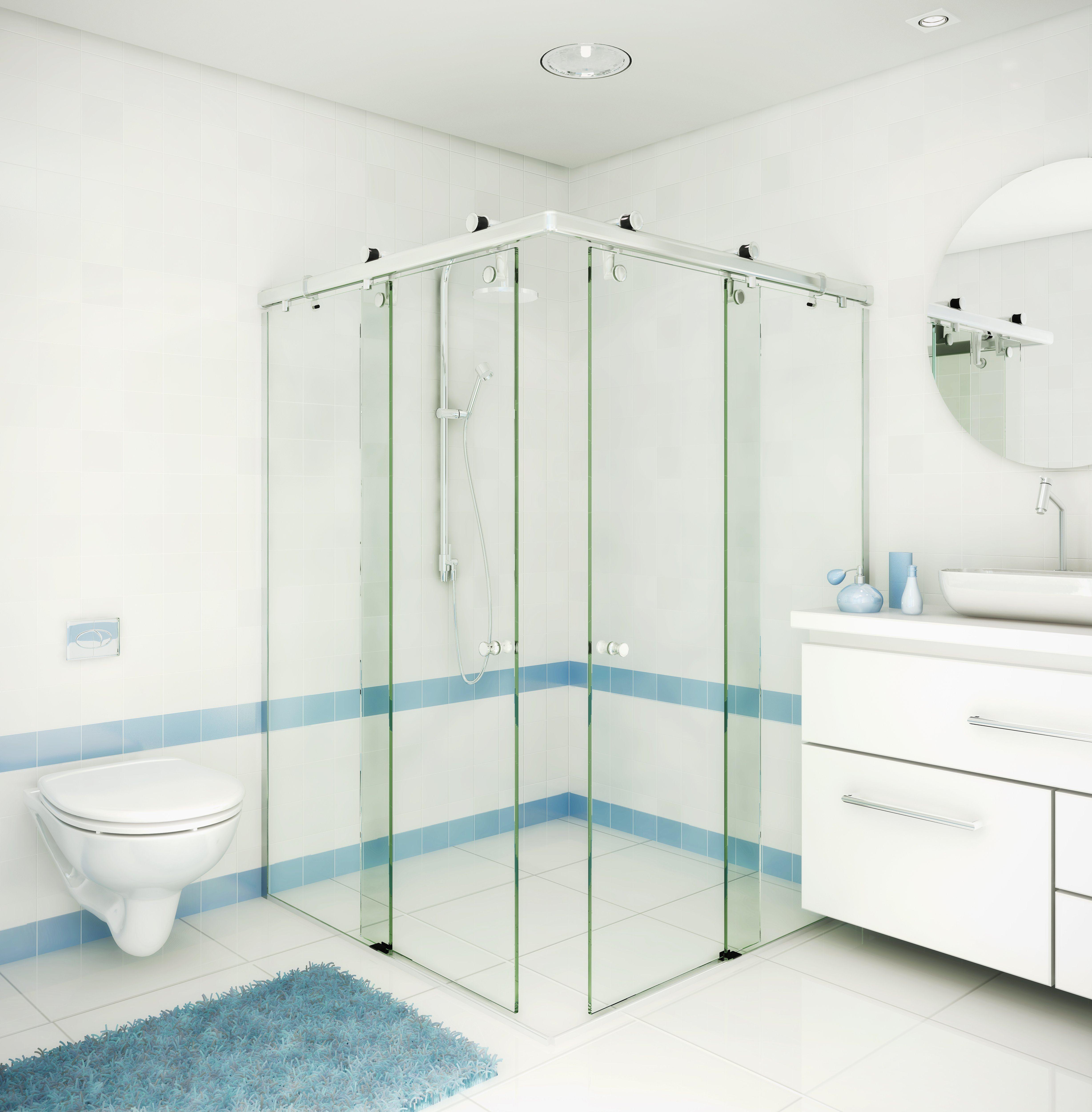 Confira modelos de box de banheiro Jet Dicas #4C7480 4912x5000 Banheiro Acessivel Pode Ter Porta De Correr