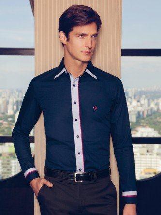camisa masculina social dudalina