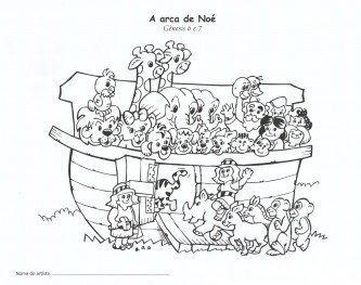 desenhos bíblicos para colorir arca de noé
