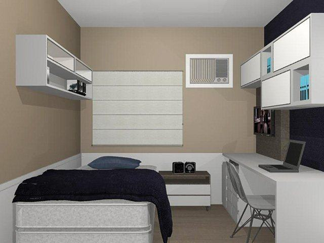 Confira os modernos modelos de quartos de solteiro Jet Dicas ~ Quarto Solteiro Pequeno Ideias