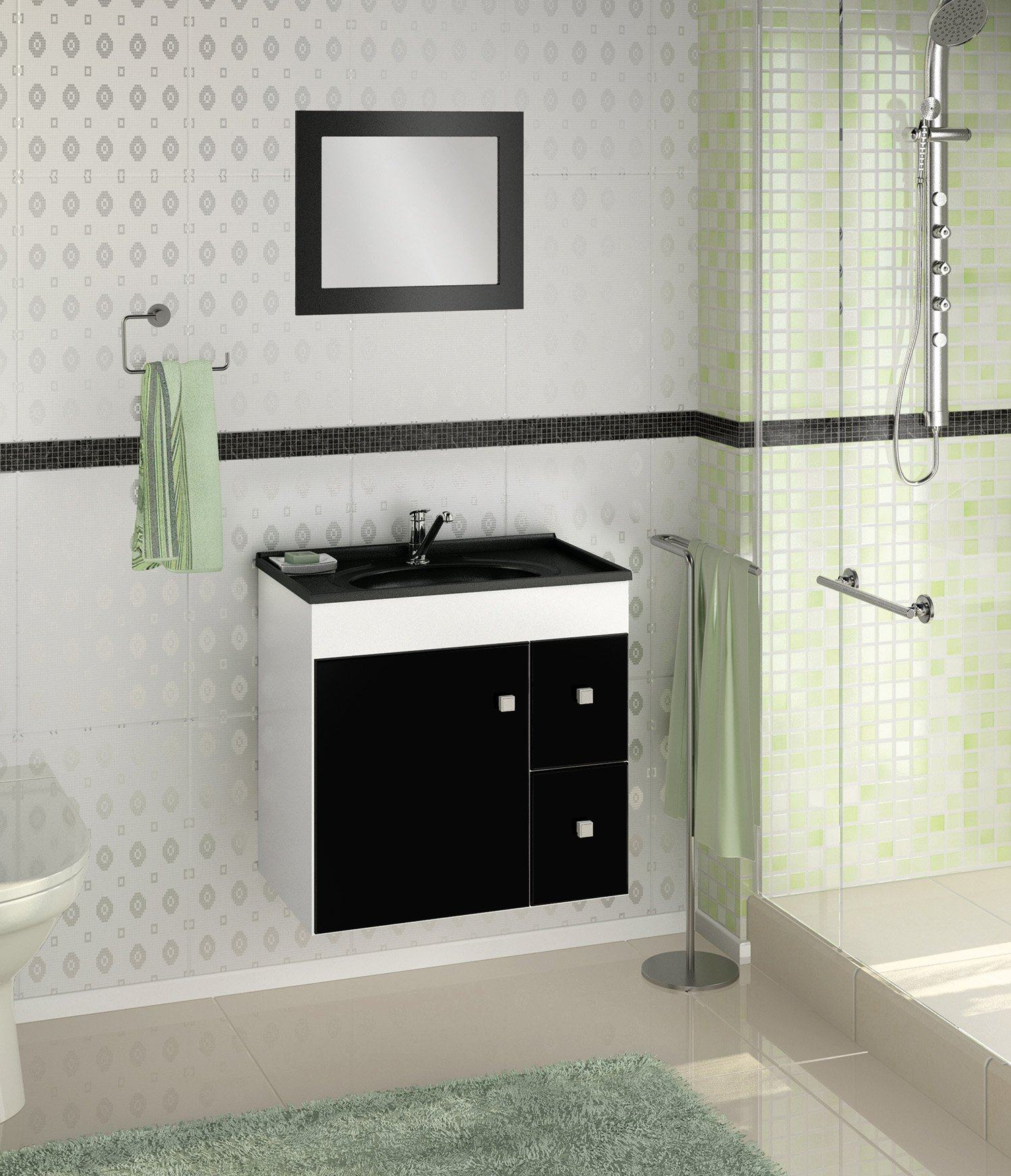 Pics Photos Gabinetes Para Banheiro Com Recorte Para Encaixar A  #6A7556 1500 1744