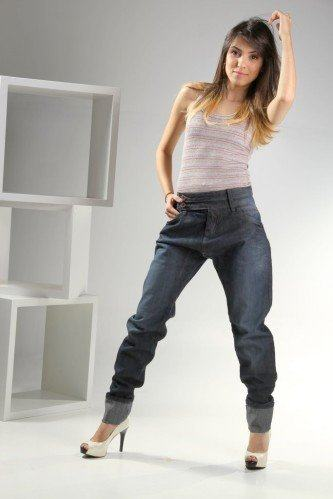 modelos de calças saruel feminina jeans