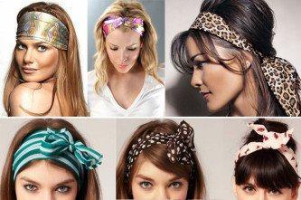 modelos de lenço para usar no cabelo