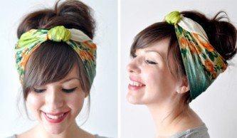 tipos de lenço para usar no cabelo