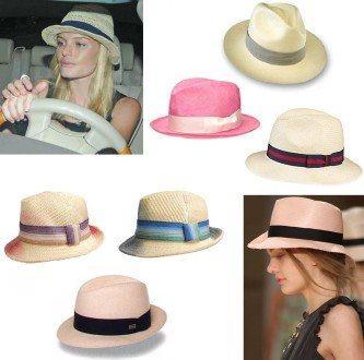 modernos chapéus panamá femininos