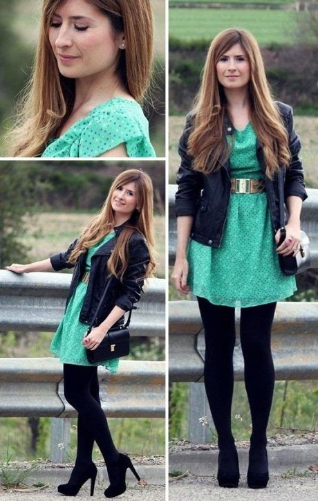 vestido-curto-e-meia-calca-moda-inverno