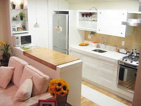 Sala Pequena Com Cozinha Americana ~ imagem 6 sala com cozinha conjugada esse projeto permite com que a
