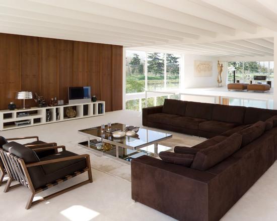 Salas De Tv Com Sofa De Canto ~ Imagem 28 Um lindo sofá de chaise com espaço bem amplo e muito