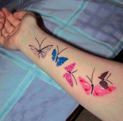 tatuagem-borboletas-no-braco-lindas