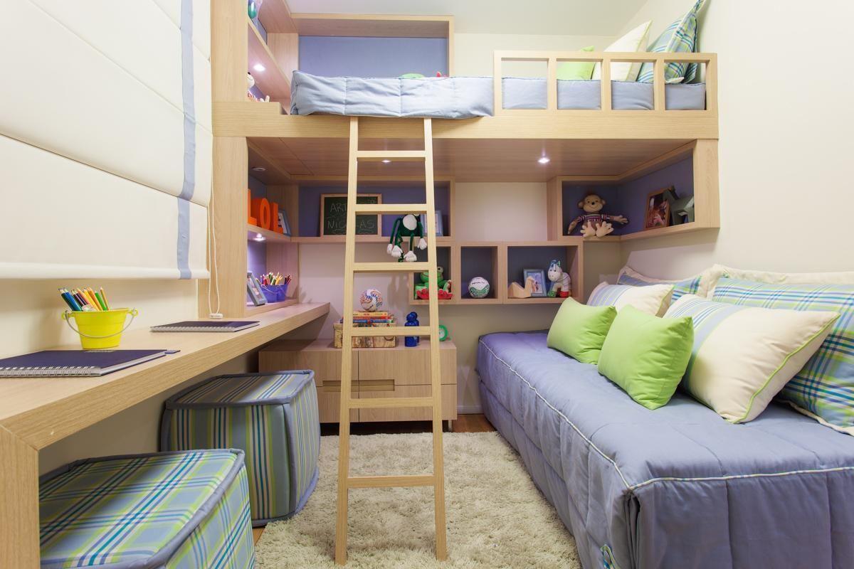 Apartamentos Decorados Pequenos E Sofisticados Jet Dicas ~ Quarto Planejado Feminino Moderno