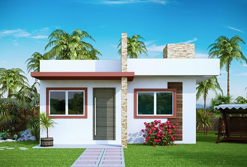 Fachadas de casas simples e pequenas em fotos perfeitas for Antejardines de casas pequenas
