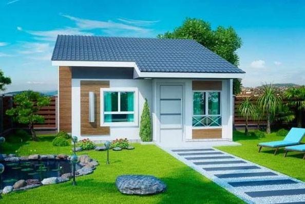 Fachadas de casas simples e pequenas em fotos perfeitas for Diseno de casa sencilla