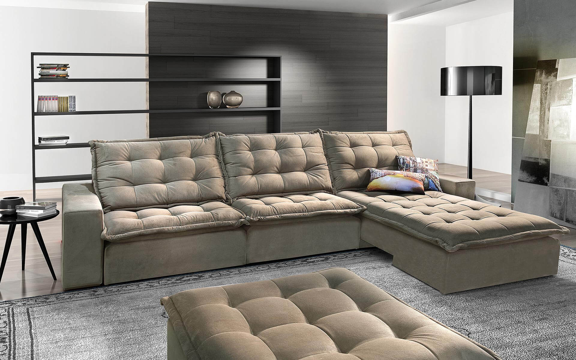 Sofa de canto 6 lugares retratil e reclinavel www for Sofa de canto 6 lugares