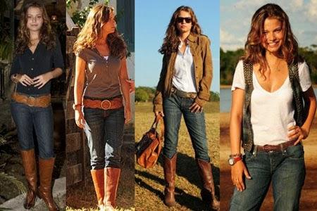 f060f88d0 Imagem 26 – Dicas ótimas agora, para as mulheres se inspirarem e terem como  dicas diferentes modelos de looks no estilo country, o primeiro com  vestidinho e ...