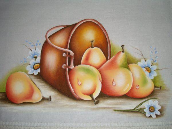 PINTURA EM PANO DE PRATO, peças artesanais para sua cozinha