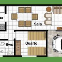 Plantas de casas POPULARES, vários quartos e formatos