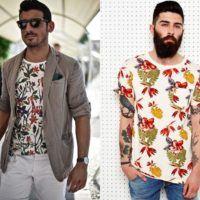 Modelos de camisetas estampadas Masculinas