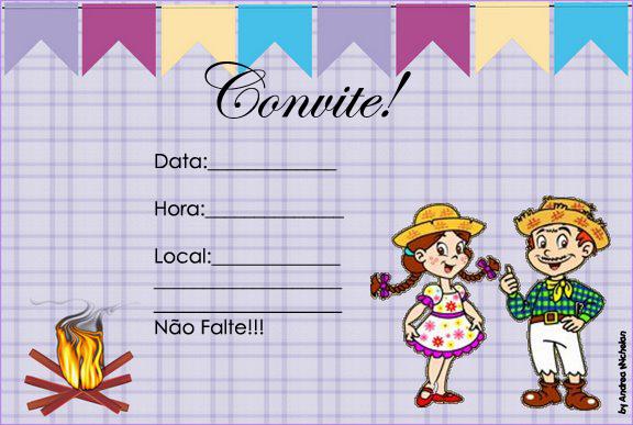 Convites Para Festa Junina Personalizaveis Para Voce Imprimir