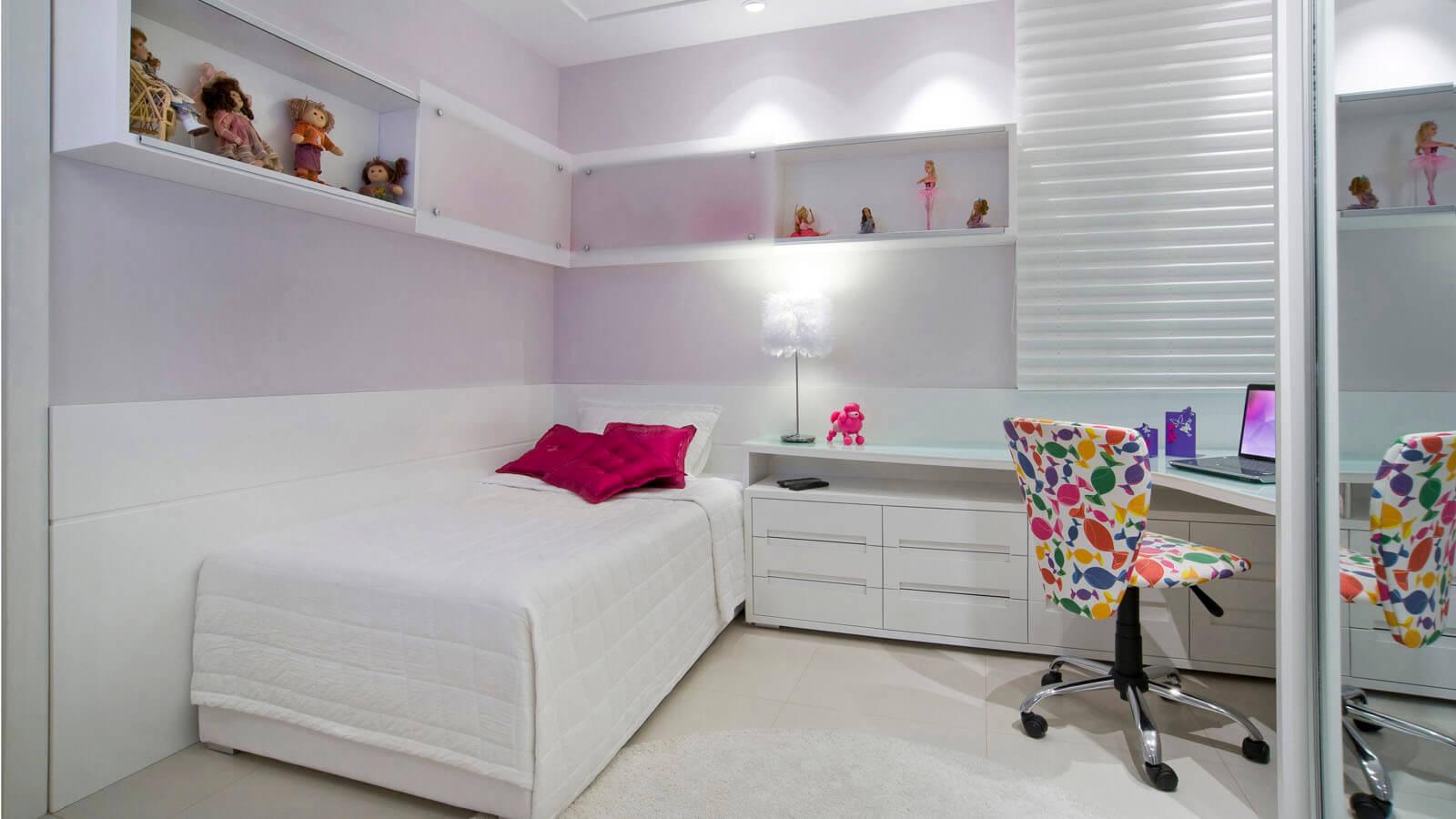M Veis Decorativos De Quartos Planejados Solteiro E Casal Jet Dicas ~ Quarto Pequeno Feminino Adolescente