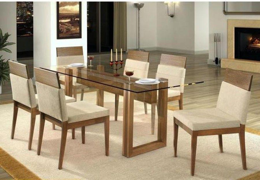 Dicas de mesa para sala de jantar de vidro modelos lindos Mesas para salas modernas