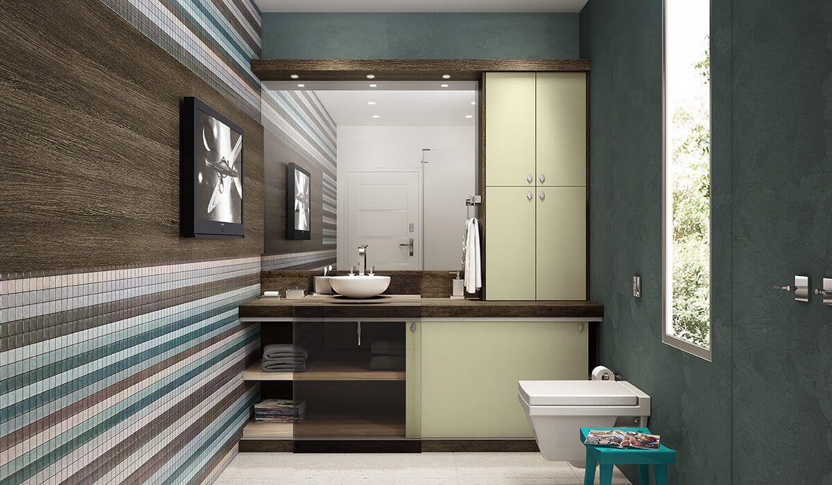 Veja dicas de decora o e m veis para banheiros modernos for Modelos de apartamentos modernos