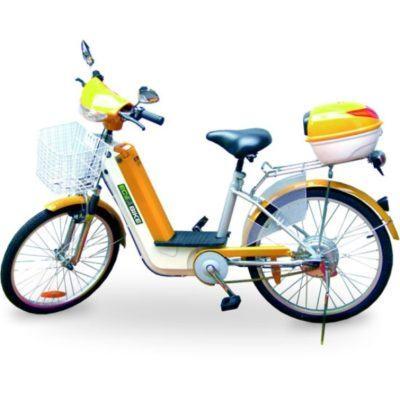 bicicletas elétricas amarela