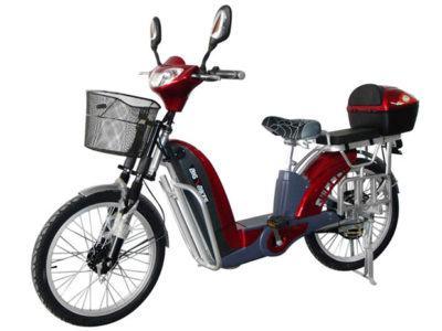 bicicletas elétricas vermelha