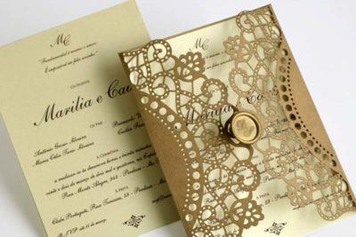 convites de casamento chiques
