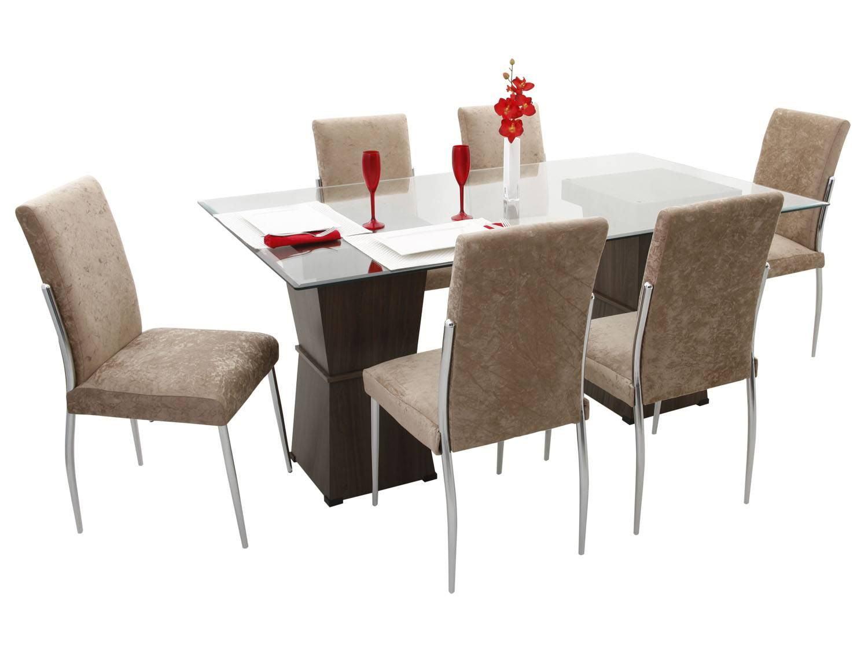 Mesa com seis cadeiras para sala de jantar Jet Dicas #AB2022 1500x1125