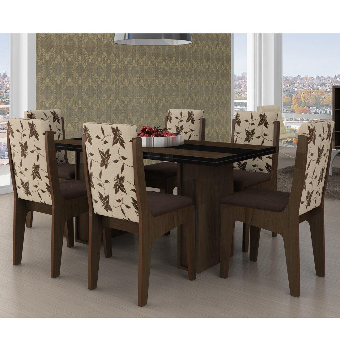 Mesa com seis cadeiras para sala de jantar Jet Dicas #31261E 1100x1100